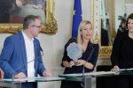 Robert Machtlinger, Familienministerin Bogner-Strauß, Elisabeth Wenzl