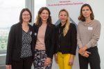 Die Gastgeberinnen von EY, Familienministerin Juliane Bogner-Strauß und Barbara Lutz beim Women Executive Breakfast