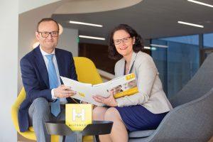 Die Geschäftsführung des Hilfswerks Salzburg: Mag. Hermann F. Hagleitner MBA und Mag. Daniela Gutschi